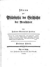 Ideen zur Philosophie der Geschichte der Menschheit: Volume 3