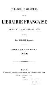 Catalogue général de la librairie française: Volume4