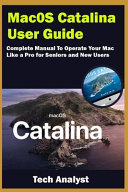 MacOS Catalina User Guide PDF
