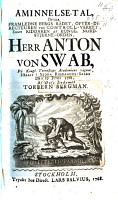 minnelse tal    fver     herr Anton von Swab  p   Kongl  Vetenskaps Academiens v  gnar  h  llit     den 29 junii 1768 PDF