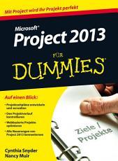 Microsoft Project 2013 f  r Dummies PDF