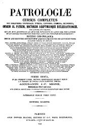 Patrologiae cursus completus. Series graeca: Volume 129