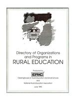 Directory of Organizations and Programs in Rural Education PDF