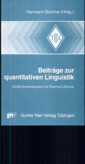 Beitr  ge zur quantitativen Linguistik PDF