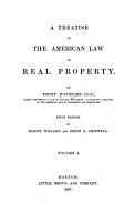 A Treatise on the American Law of Real Property PDF