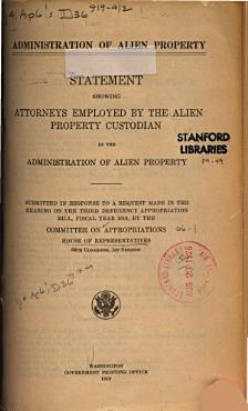 Administration of Alien Property PDF