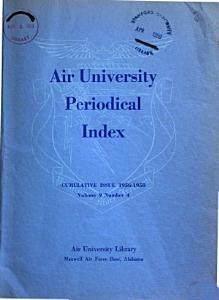 Air University Periodical Index PDF