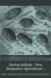 Station Bulletin - New Hampshire Agricultural Experiment Station: Issues 41-68