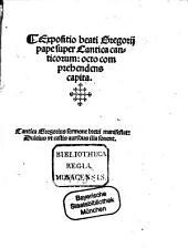 Expositio super cantica Canticorum