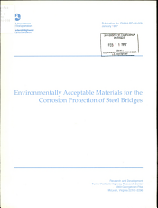 Environmentally Acceptable Materials for the Corrosion Protection of Steel Bridges PDF
