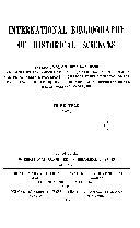 International Bibliography of Historical Sciences PDF