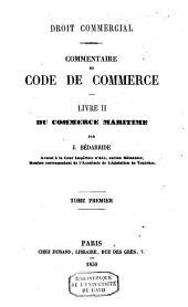 Droit commercial: commentaire du code de commerce