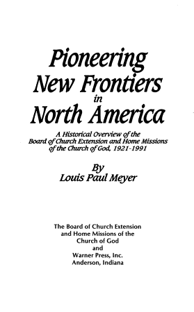 Pioneering New Frontiers in North America PDF