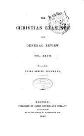 The Christian Examiner: Volume 27