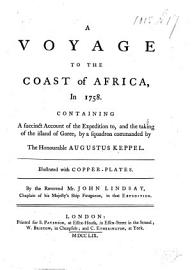 A Voyage To The Coast Of Africa  In 1758