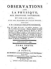 Observations sur la physique, sur l'histoire naturelle et sur les arts: Volume 37