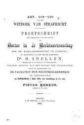 Art. 418 - 420 van het wetboek van strafrecht