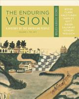 The Enduring Vision  A History of the American People  Volume I  To 1877  Concise PDF