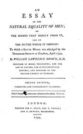An Essay on the Natural Equality of Men ... Corrected and enlarged ... The first American edition