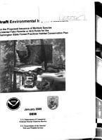 Proposed Issuance of Multiple Species Incidental Take Permits Or 4 d  Rules Covering the Washington State Forest Practices Habitat Conservation Plan PDF