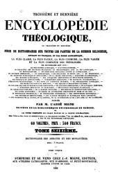 Troisième et dernière Encyclopédie théologique: Volume16