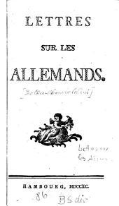 Lettres Sur Les Allemands