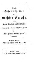 Philosophie der Sprache PDF