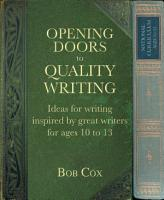 Opening Doors to Quality Writing 10 13 PDF