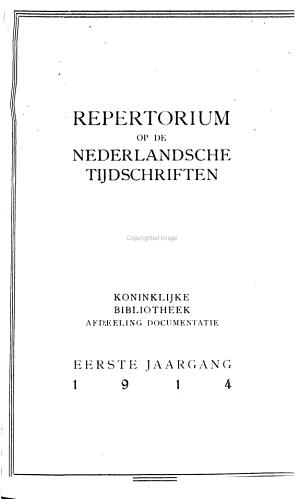 Repertorium op de Nederlandsche tijdschriften PDF
