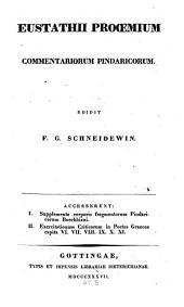 Prooemium commentariorum Pindaricorum