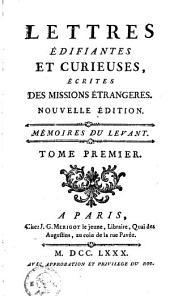 Lettres édifiantes et curieuses: écrites des missions étrangères, Volume1