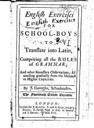English Exercises For School Boys To Translate Into Latin Fourteenth Edition Book PDF