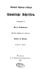 Gotthold Ephraim Lessing's sämmtliche Schriften: Band 6