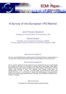 A Survey of the European IPO Market