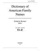 Dictionary of American Family Names  O Z PDF