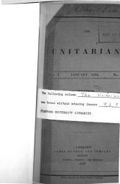 The Unitarian: Volume 1