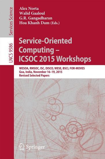 Service Oriented Computing     ICSOC 2015 Workshops PDF