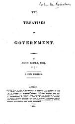 Two Treatises Of Government Book PDF