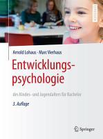 Entwicklungspsychologie des Kindes  und Jugendalters f  r Bachelor PDF