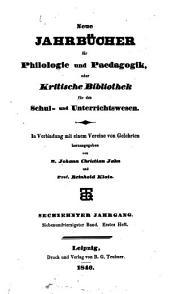 Jahnscher Jahrbücher für Philologie und Paedagogik: Bände 47-48