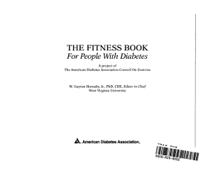 The Fitness Book for People with Diabetes