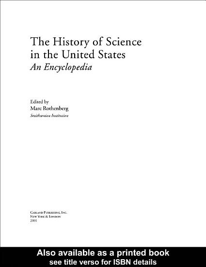 The History of Science in the United States PDF