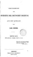 Grundrisz zur Geschichte der deutschen Dichtung  3 Bde   in 2  Vol  1 2 is of the 2nd ed    PDF