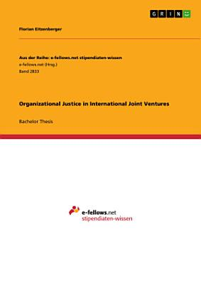 Organizational Justice in International Joint Ventures PDF