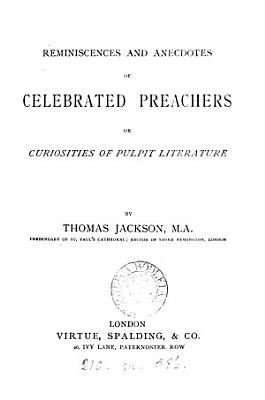 Reminiscences and anecdotes of celebrated preachers