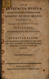 Num Artefacta Musiva Musaei Principalis Wirceburgensis Scientiis An Solis Artibus Debeantur