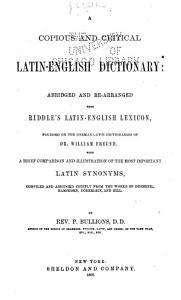 A Copious and Critical Latin English Dictionary PDF