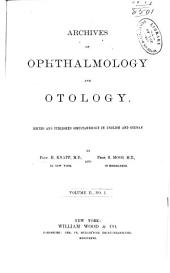 Archives of Ophthalmology and Otology: Volume 2