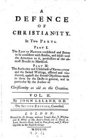 A Defence of Christianity. 2. Ed