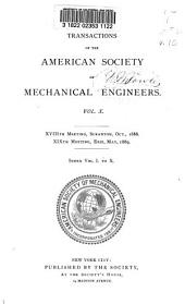 Transactions of the American Society of Mechanical Engineers: Volume 10